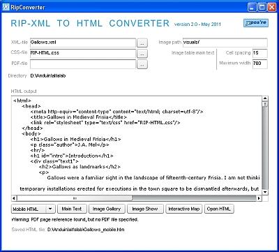 De nieuwe versie van RipConverter, een Adobe AIR-applicatie.